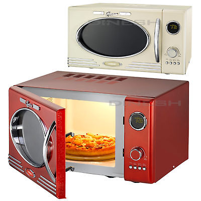 Melissa Classico Mikrowelle mit Grill im Retro-Design, Grillfunktion, Microwave
