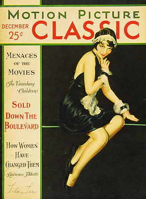 LILA LEE Movie Promo POSTER Motion Picture Classic Magazine Cover 1920's