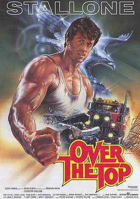 OVER THE TOP Movie Promo POSTER German Sylvester Stallone Robert Loggia