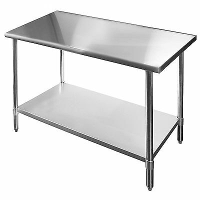 Commercial Stainless Steel Work Table - 18 x 60 - Heavy Duty-LOCAL PICKUP ONLY