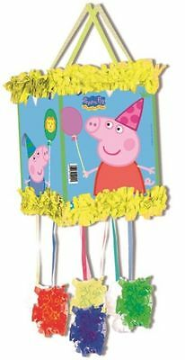 Peppa Pig pull-string Pinata & Augenbinde - Kinderparty Spiel 395-809