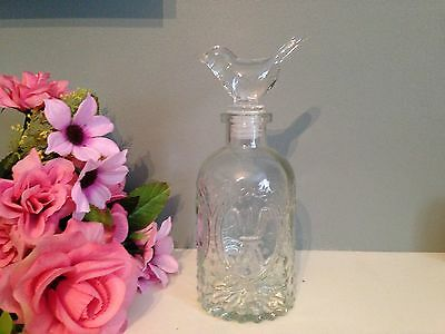 Shabby Chic Vintage Bird Decanter Lid Style Bottle Dressing table