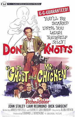 THE GHOST AND MR. CHICKEN Movie Promo POSTER Don Knotts Joan Staley Dick Sargent