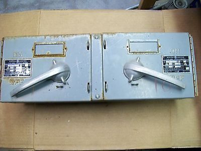 GE 60 AMP TYPE QMR FUSIBLE TWIN SWITCH w HARDWARE 600VAC 3P , DDID3-362 (A3A)