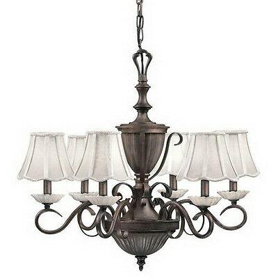 Legacy Bronze 6 Light Chandelier With Shades