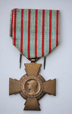 France: Ww1 French Combattant Cross 1914-1918