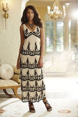 sz XLarge Floral Tiered Gown Formal Wear Mother of the Bride new