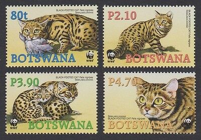 Botswana WWF Black-footed Cat 4 stamps SG#1040/43 SC#806-09 MI#817-20