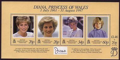 BIOT Diana Princess of Wales Commemoration SG#MS214 SALE AT FACE VALUE