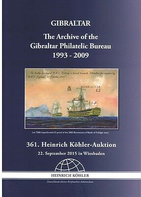 Gibraltar The Archives of Philatelic Bureau Exhibition Catalogue