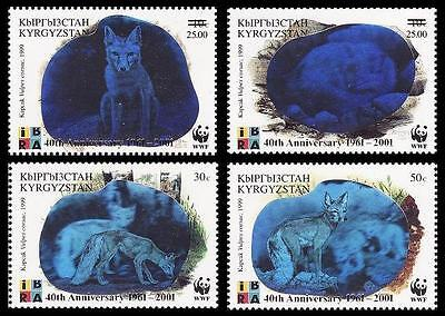 Kyrgyzstan WWF 40th Anniversary 4v with overprint SG#240/43 SC#175 a-d MI#249-52