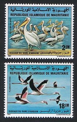 Mauritania Birds Pelicans Flamingos 2v issue 1981 SG#713/14 SC#506-07