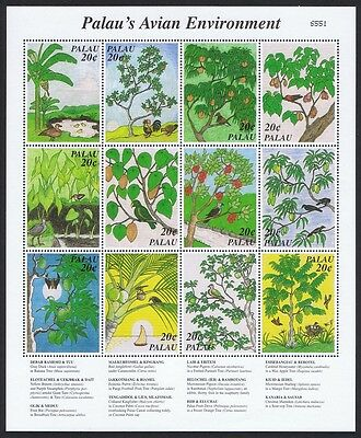 Palau Avian Environment Sheetlet of 12 stamps SG#1164/75 SC#426