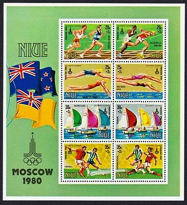 Niue Olympic Games Moscow MS SG#MS374 SC#B42