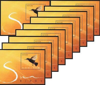 Namibia Sunbirds of Namibia MS WHOLESALE Pack of 10 SG#MS989 SC#1059
