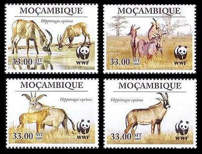 Mozambique WWF Roan Antelope 4 stamps SC#1930 MI#3658-61