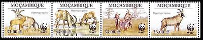 Mozambique WWF Roan Antelope Strip of 4 stamps SC#1930 MI#3658-61