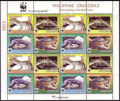 Philippines WWF Philippine Crocodile Sheetlet of 4 sets /16v MI#4500-03