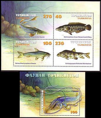 Tajikistan Fishes Sheetlet +MS SG#MS159/60