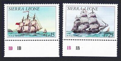 Sierra Leone Ships History of Shipping 2v without imprint the Highest Values
