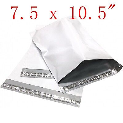 """7.5x10.5""""  Poly Mailers Shipping Envelope Plastic Bags 2.35 Mil, 25 100 500 1000"""