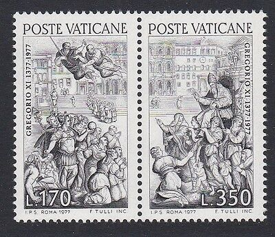Vatican 600th Anniversary of Return of Pope Gregory 2v in pair SG#677/78 SC#614a