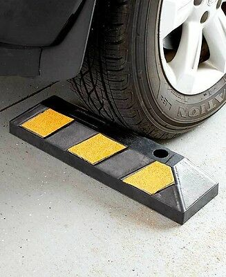 Heavy Duty Rubber Parking Curb Car Wheel Stop Block Driveway Garage Safety