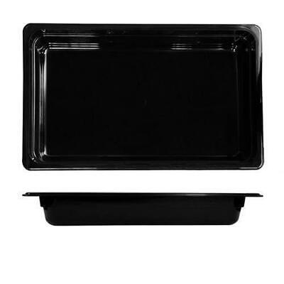 6x Bain Marie Tray / Black Polycarbonate Food Pan, Gastronorm 1/1 Size 65mm Deep