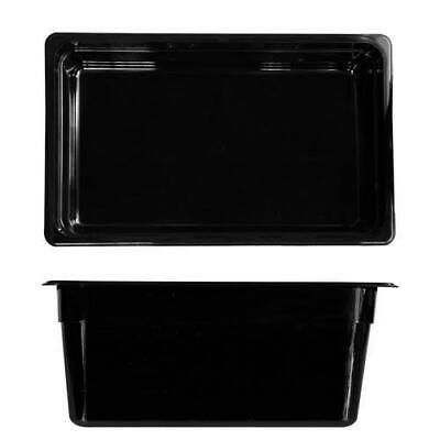 6x Bain Marie Tray / Black Polycarbonate Food Pan Gastronorm 1/1 Size 200mm Deep
