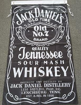 JACK DANIELS FLAG 3 x 5ft - 90cm x 150cm BAR FLAGS WITH GROMMETS AND SEALED NEW