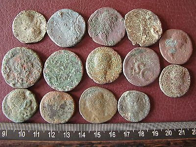 Authentic Ancient Artifact   Lot of 14 LOWER QUALITY LARGE ROMAN Coins 14723