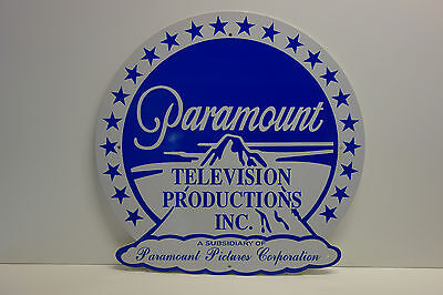 Paramount Television Productions Stage Medalion Die Cut Rare Enamel Sign