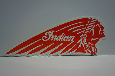 "Indian Motorcycle Iconic Dealership Sign. 7 1/2"" By 18"". Very Colorful!"
