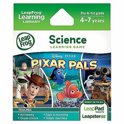 LeapFrog Pixar Pals Learning Game LeapPad Ages 4-7 Years 692000170342 Astronomy