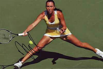 Jelena Jankovic Signed 8X12 Inches Tennis Photo