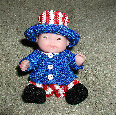 """Mr. 4th of July Itty Bitty Baby Boy - 5"""" Lots to Love Babies"""