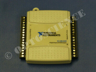 National Instruments USB-6525 Digital I/O / Relay Card, NI DAQ, 8ch SSR 8ch DI