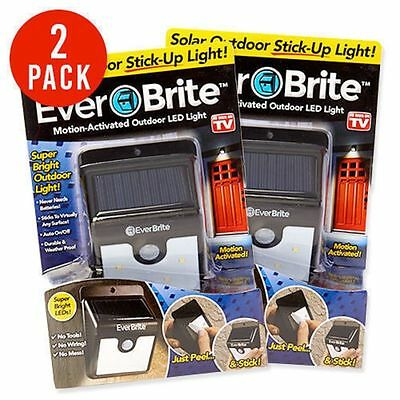 2x Ever Brite Led Outdoor Light-AS ON TV Everbrite Solar Powered & Wireless BI