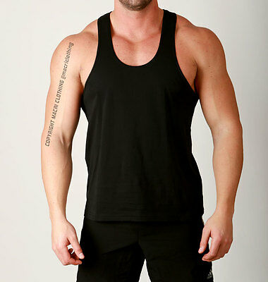 New Mens Gym Bodybuilding Racerback T BACK stringer SINGLETS VEST Muscle workout