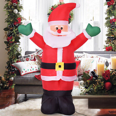 1.2M Inflatable Christmas Decoration Welcome Santa Claus Indoor And Outdoor Use