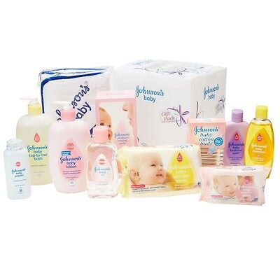 Johnson's Baby Shower Gift Pack Kids Shampoo Oil Toe Bath Powder Wipes Lotion