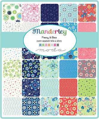 Patchwork/quilting Fabric Moda Charm Squares/packs - Manderley