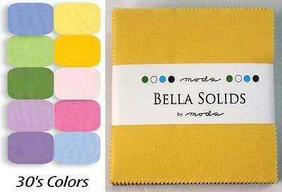 Patchwork/quilting Fabric Moda Charm Squares/packs - Bella Solids '30's Colours