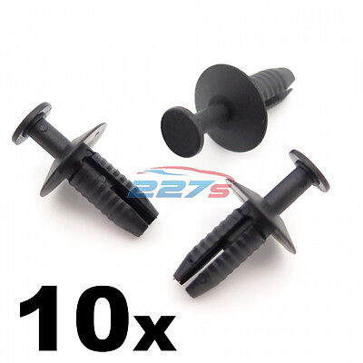 10x Plastic Trim Clips- Mercedes Bumper, Grille, Wheel Arch Lining & Side Skirt