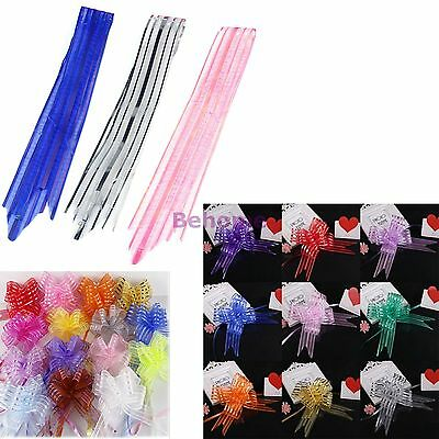 10 Pull Bow Decorations Large Wedding Car Gift Wrap Packaging Christmas Party