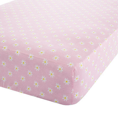 Catherine Lansfield Kids Ditsy Daisy Dreamer Fitted Sheet, Pink