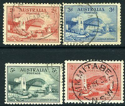 AUSTRALIA-1932 Sydney Harbour Bridge Set Sg 141-144 FINE USED V11763