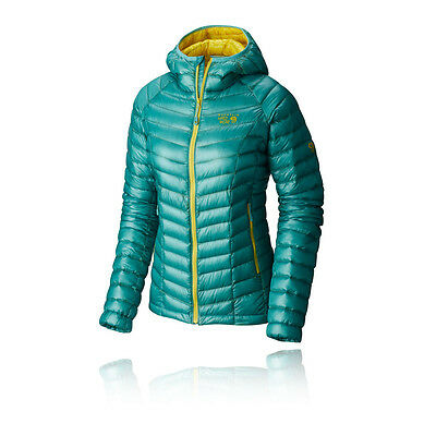 Mountain Hardwear Ghost Whisperer Mujer Verde Resiste Agua Capucha Chaqueta