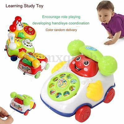 HOT Baby Toys Music Cartoon Phone Mobile Educational Developmental Kids Gifts AU