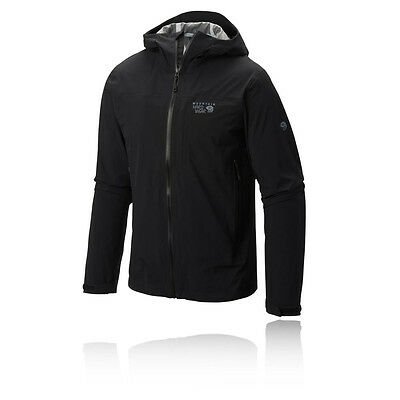 Mountain Hardwear Stretch Ozonic Hombre Negro Impermeable Running Chaqueta Top